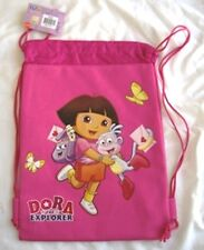 Hot Pink DORA THE Explorer Drawstring Backpack Girl School Sling Tote Gym Bag 🎒