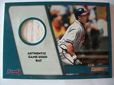 2001 TOPPS TRADED GAME USED BAT KEN CAMINITY , ASTROS     BOX 53