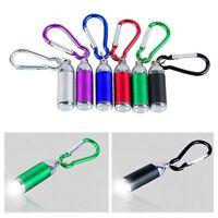 LED Light Mini Pocket Retracted Lamp Key Chain Keyring Flashlight