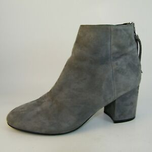 Steve Madden Woman's Leather Suede Ankle Boots Gray Size 6.5