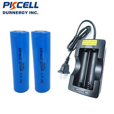 2 18650 Lithium High Drain Vape Rechargeable Batteries 3.7v 2200mAh with Charger