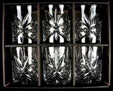 Set of 6 High Quality Crystal Glass Tumbler Glasses
