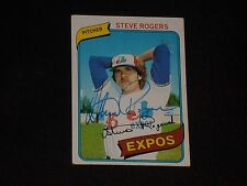 STEVE ROGERS 1980 TOPPS SIGNED AUTOGRAPHED CARD #520 MONTREAL EXPOS