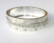 Old Victorian sterling silver bangle bracelet Birmingham hallmarks 1887