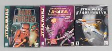 Star Wars Pc Game Lot (X-Wing, Dark Forces, Starfighter) - 3 Video Games In Box