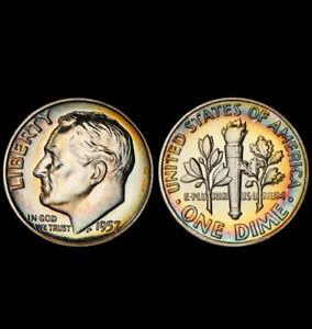 PR67 1957 10C Roosevelt Silver Proof Dime, PCGS Secure- Pretty Toned