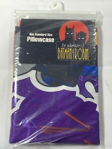 Vintage Batman Robin Pillow Case 1995 Joker Two Face Riddler DC Comics