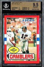 Bills BGS 9.5 Gem Mint (Pop 12 Exist) XRC Rc Jim Kelly 1985 USFL Pre NFL Rookie