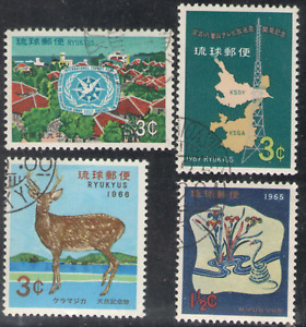 Ryukyu Islands. 128, 142, 162, 167. CTO. Lot of 4. NH