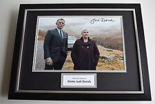 Judi Dench SIGNED FRAMED Photo Autograph 16x12 display James Bond Film AFTAL COA