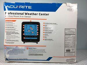 AcuRite Weather Sensor with Rain Gauge Wind Speed Direction Temperature Humidity