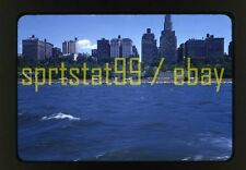 New York City NY from the River - c1950s - Vintage Red Border 35mm Slide