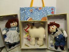 New Applause Raggedy Ann Andy & Camel Wrinkled Knees Limited Edition Set & Bag
