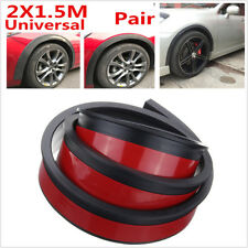 2x 1.5m Car Wheel Trim Universal Rubber Fender Moulding Flares Protection Strip
