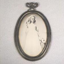 """Vintage Frame Portugal Pewter Frame Mansion House Giftwares 8""""x5"""" Oneida"""