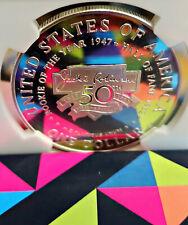 ~☆GORGEOUS☆~ PF-70 Ultra Cameo 1997-S JACKIE ROBINSON Dollar Commemorative NGC