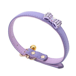 Pet Elastic Dog Bell Collar Dogs Collar With Bowtie Bell Bow Tie Collar LS