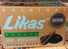 OREGINAL LIKAS PAPAYA SKIN WHITENING HERBAL SOAP SET OF 4