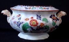 Sucrier Bayeux  décor floral porcelaine sugar faience XIX