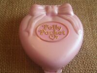 Vintage Polly Pocket Bluebird Stylin' Hair Happenin Pink 1995 Heart Compact ONLY