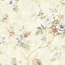 """12""""/31cm Wallpaper SAMPLE Beautiful Arbor Rose Floral"""