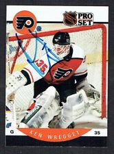 Ken Wregget #226 signed autograph auto 1990-91 Pro Set Hockey Trading Card