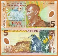 New Zealand, $5, 2014, Polymer, Pick 185-New, New Signature, UNC > Penguin