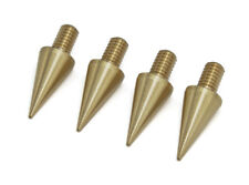 More details for speaker spikes m4 brass for hifi pads, shoes, feet l-18mm - set of 4 pcs