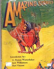 ORIGINAL Mar 1930 AMAZING STORIES 25c! Bedsheet Sci-fi Mag SCIENTIFIC FICTION!