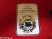 2009 Cook Isl Island Pansy In Cloisonne NGC graded PF69 Silver & 24kt gold coin