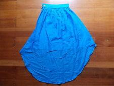 LIMEDROP electric blue cotton silk blend tail skirt size 0 AUSTRALIAN MADE BNWT