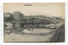 Saint Omer (62) - Passerelle de Lyzel - bridge, river - old France postcard