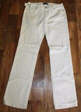 Ladies TOMMY HILFIGER Madison White Pleated Stretch Denim Trousers Jeans W32 L34