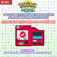 Pokemon HOME - COMPLETE NATIONAL POKEDEX SHINY - LIVING SHINY DEX - GEN 1-7