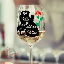 VINYL DECALS STICKERS WINE GLASS CRAFT TALE AS OLD AS WINE