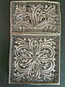 👍 19TH CENTURY CHINA CHINESE SILVER FILIGREE EXPORT CASE BOX 纯银丝古董盒