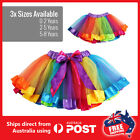 Rainbow Tutu skirt Birthday Party outfit Dancing ballet princess costume school