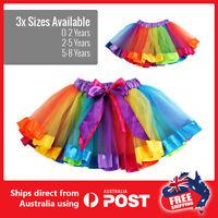 Rainbow Tutu skirt Birthday Party outfit Dancing  princess costumes  Ballerina
