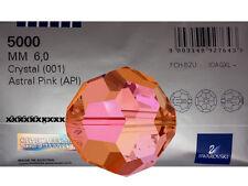 50 Genuine Swarovski Round MC Beads 6mm Crystal Astral Pink Coated, Art.5000