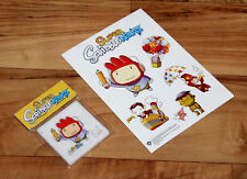 Super Scribblenauts Nintendo DS Rare Promo Sticker Set & Mini Sliding Puzzle