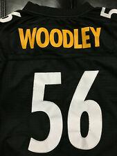 LaMarr Woodley #56 Pittsburgh Steelers Reebok On Field Jersey Large Length+2