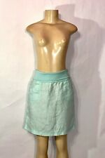 ATHLETA BRAND MINT GREEN LINEN ROLLED TOP A LINE FRONT POCKET SKIRT SIZE 6