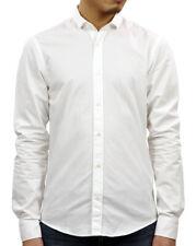 Scotch And Soda Cotton Men's White Shirt Long Sleeve XL