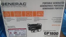 GENERAC GP1800 PORTABLE GENERATOR (NEW)