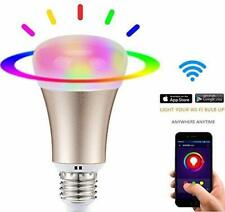 60W E27 Dimmable Color Changing Smart Wi-Fi LED Light Bulb RGB+CW Alexa Google