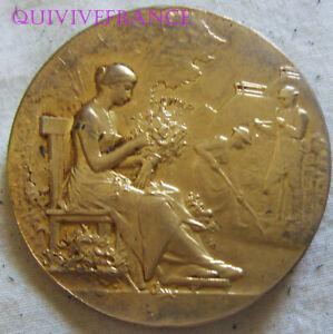 MED10904 - Medaglia Orticoltura Della Rouen & Loiret Da Vernon IN Argento Dorato