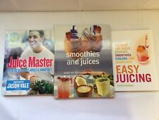 x3 Books - Easy Juicing - Juice Master - Smoothies And Juices - Good Condition