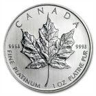 1 oz Random Year Platinum (Canada) Canadian Maple Leaf $50 BU