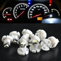 10Pcs White T4.2 Neo Wedge 1-SMD LED Cluster Instrument Dash Climate Bulb Light