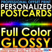 250 PERSONALIZED CUSTOM PRINTED 4X6 POSTCARDS FULL COLOR UV GLOSS PROFESSIONAL